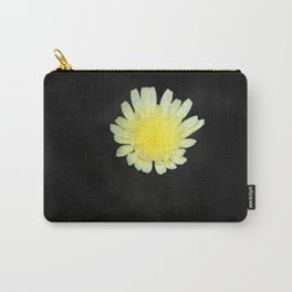 Lemon Yellow Desert Dandelion on Jet Black Coachella Preserve Carry-All Pouch