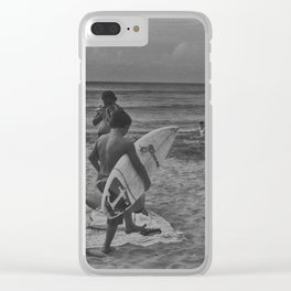 Surf life Clear iPhone Case