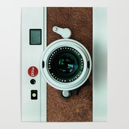 Retro vintage leather camera Poster
