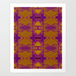 Purple lace Art Print