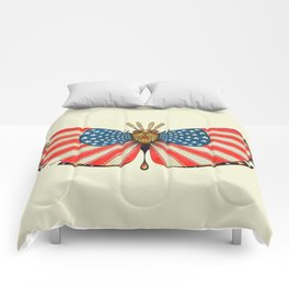 patriot moth (ORIGINAL SOLD). Comforters