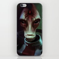 mass effect iPhone & iPod Skins featuring Mass Effect: Mordin Solus by Ruthie Hammerschlag