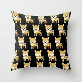 shiba inu Lover Kids Gift Dogs Throw Pillow