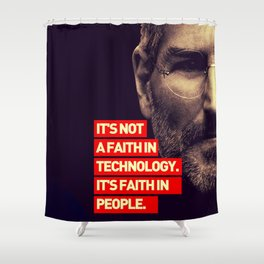Office SteveJobs Quote Shower Curtain