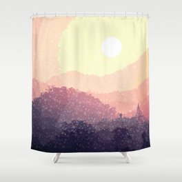 Santa is coming Shower Curtain