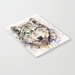 Wolf Head Watercolor Portrait Notebook