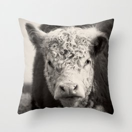 How Now Brown Cow Square Format Throw Pillow