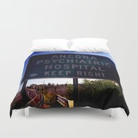 psych Duvet Covers featuring Ancora Psych by Groovyal