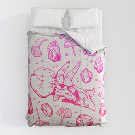 Triceratops Rocks! | Fiery Pink Ombré Comforters