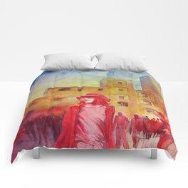 Chapeau rouge Comforters