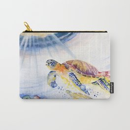 Going Up Sea Turtle Carry-All Pouch
