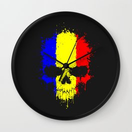 Romanian skull Wall Clock