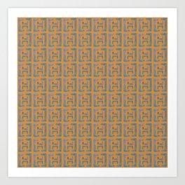 Bent line pattern3 Art Print