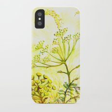 Tansy and Great mullein iPhone X Slim Case