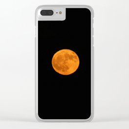 October Harvest Moon Clear iPhone Case