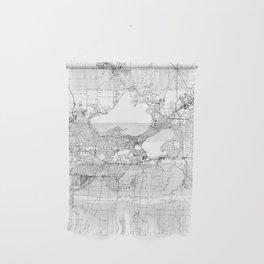 Madison White Map Wall Hanging