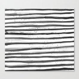 Zebra Swirl Stripe Canvas Print