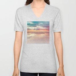 Beach Love Ocean Sunset Unisex V-Neck