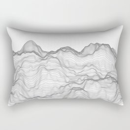 Soft Peaks Rectangular Pillow