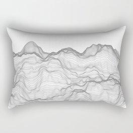 Soft Peaks Rectangular Pillow