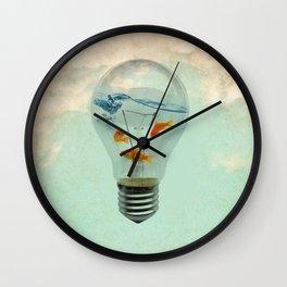 ideas and goldfish 02 Wall Clock