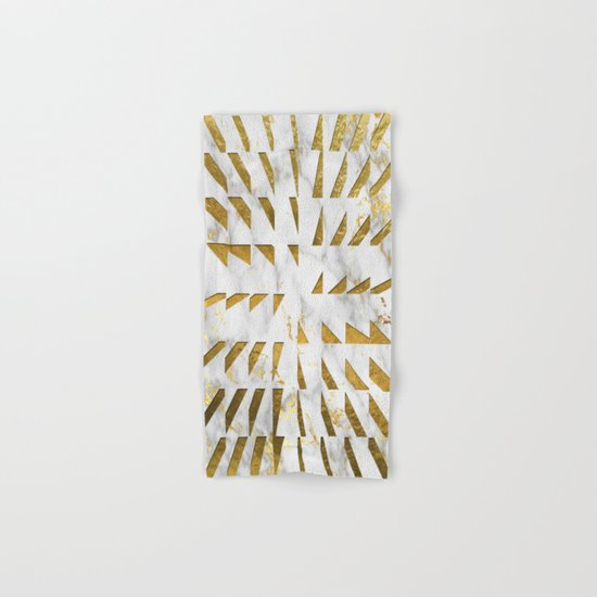 Marble and Gold Pattern #4 Hand & Bath Towel