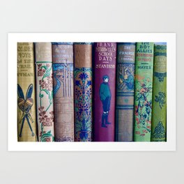 Lovely Antique Book Spines Art Print
