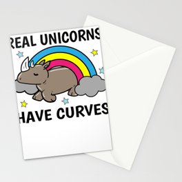 Unicorn Rhino curves obesity Sexy Gift Stationery Cards