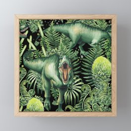 Realistic watercolor dinosaur Framed Mini Art Print