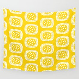 Atomic Sunburst Yellow Wall Tapestry