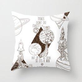 Martian - It's a Win Throw Pillow