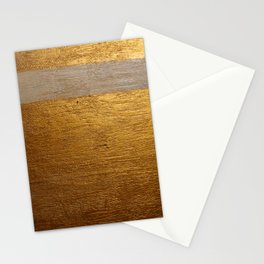 Dariusz Stolarzyn Gold and White Oil Painting Stationery Cards