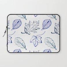 Leaves (navy) Laptop Sleeve