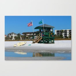 Welcome To Siesta Key Beach Canvas Print