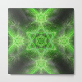 Emerald Star Mandala Metal Print