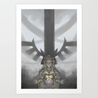 legend of zelda Art Prints featuring Zelda by hachiyuki