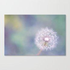 Coloured Dandelion Canvas Print