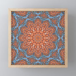 Blue - orange kaleidoscope Framed Mini Art Print