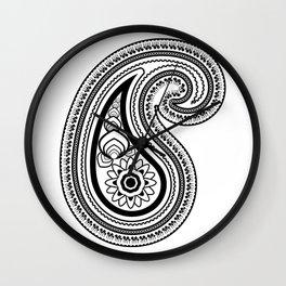 Paisley Wall Clock