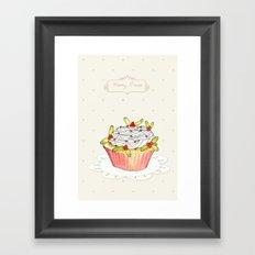 x-mas cupcake_01 Framed Art Print