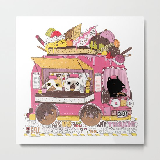 IceCream Truck Metal Print
