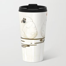 3 proboscis monkeys | Senjiro Nakata Metal Travel Mug