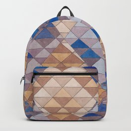 Triangle Pattern No. 13 Shifting Purple and Ochre Backpack