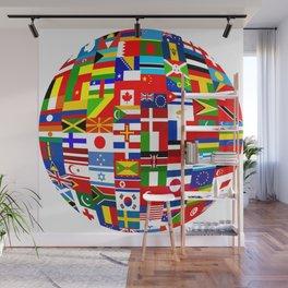 Flag World Wall Mural