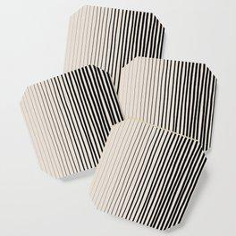 Black Vertical Lines Coaster