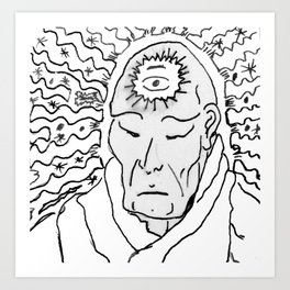 Deep Star Man Art Print