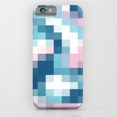 Mat Map Squares Aqua Slim Case iPhone 6s