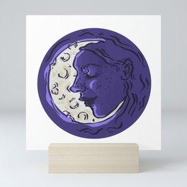Moon Girl, Woman in the Moon Mini Art Print
