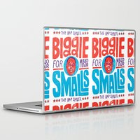 biggie smalls Laptop & iPad Skins featuring Biggie Smalls for Mayor by Chris Piascik