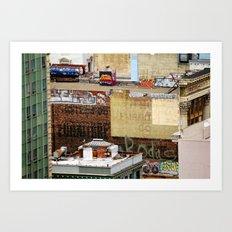 San Francisco behind the scene Art Print
